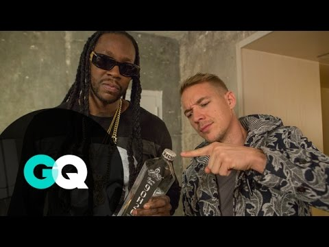 2 Chainz and Diplo drink a $100,00 bottle of water!!